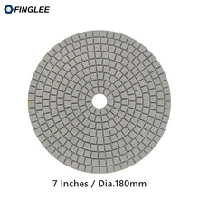 Здесь можно купить   5pcs/lot 7inch/180mm Granite,marble,Concrete Ceramic Wet Diamond polishing pads Power Tools