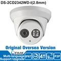 Hik IP Camera 4MP DS-2CD2342WD-I IP Camera Poe CCTV Outdoor Camera English Version Surveillance Dome Camera Night Vision