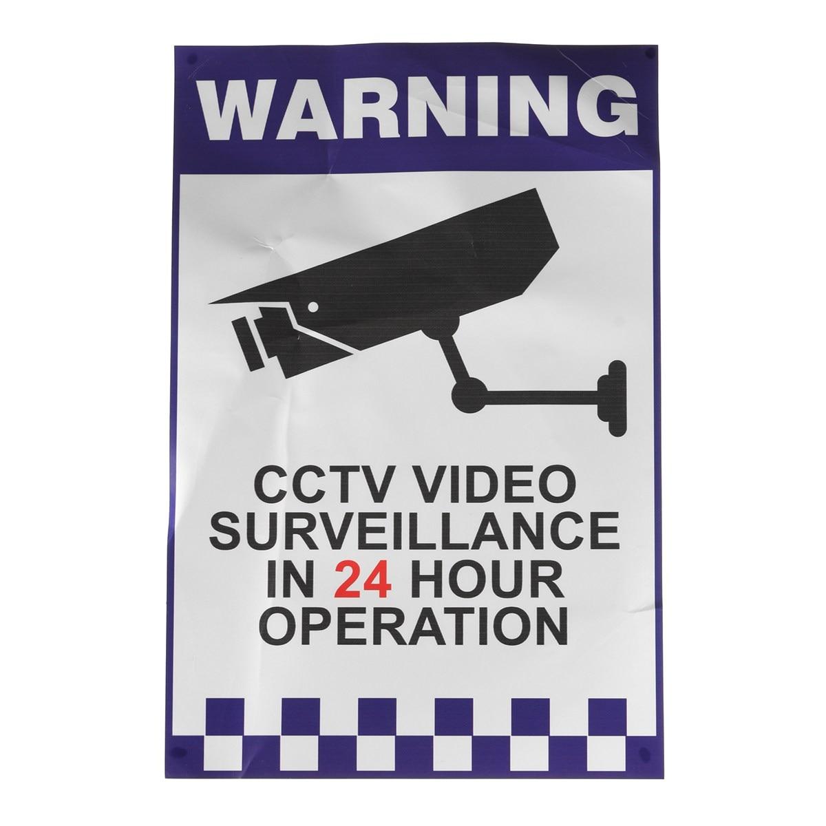 Safurance Предупреждение видеонаблюдения Стикеры Камера жесткой Пластик знак 200x300 мм дома Детская безопасность