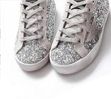 BBK 2016 Goose Superstar Casual Shoes sport star shoes Breathe Shoes Silver Flashing Sneakers genuine leather kids shoes factory