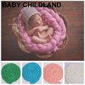 Newborn Photography Props Baby Photo Blanket 12 Colors 4M Long Basket Acrylic Filler Braid Basket Stuffer atrezzo fotos bebe