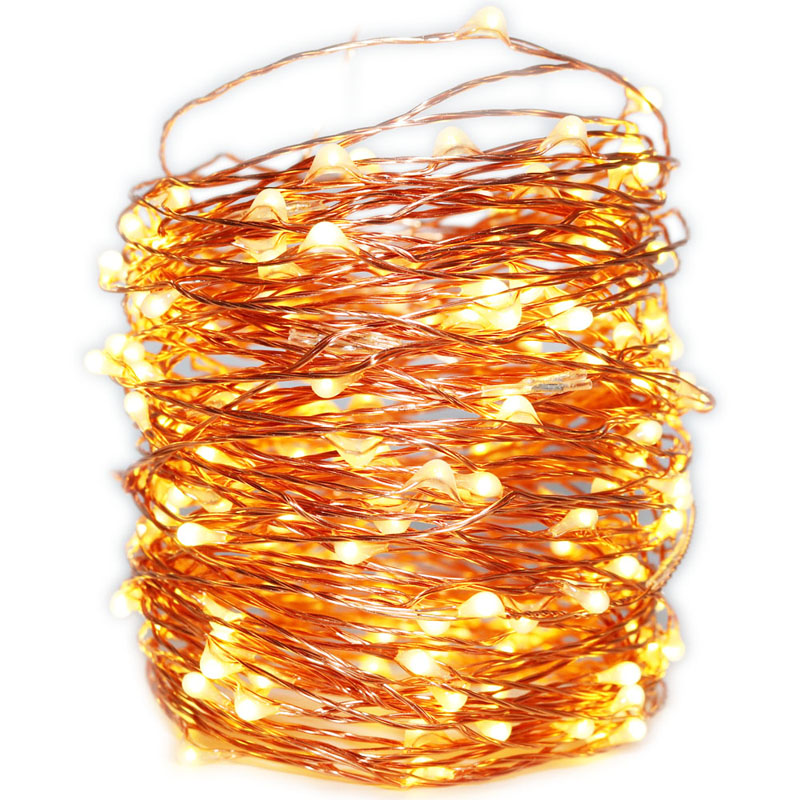 5/<font><b>10</b></font>/20/30/50M 50-500LEDs Copper Wire <font><b>LED</b></font> String <font><b>lights</b></font> Fairy Garland Lamp <font><b>light</b></font> For Christmas New Year Wedding Party Decoration image