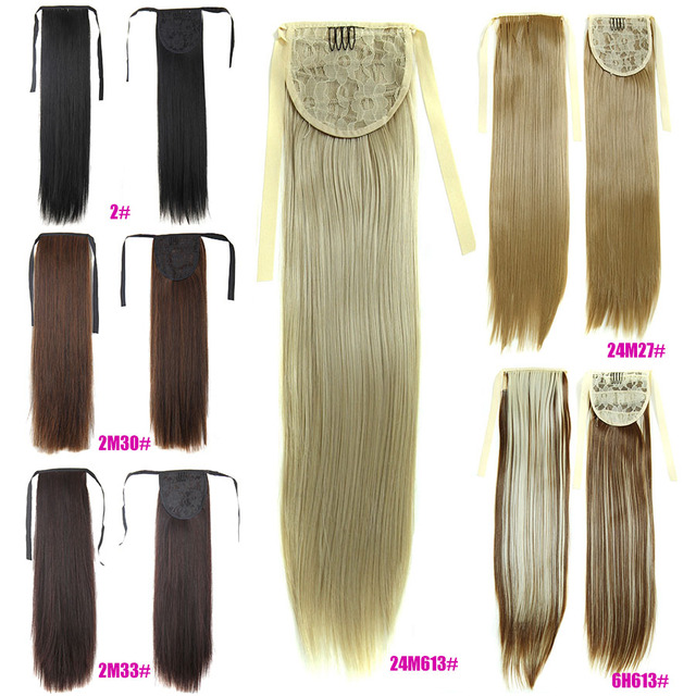 Long Straight 23 Ponytail 60cm Magic Fake Pony Hair Extensions