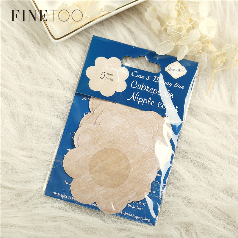 5Pairs/lot Breast Petals Summer Reusable Invisible Self Adhesive Sticker Cover Bra Pasties Heart Flower Intimates Accessories