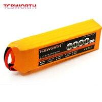 TCBWORTH 4S 14 8V 6000mAh 40C Max 80C 4S RC Quadrotor LiPo Battery For RC Airplane