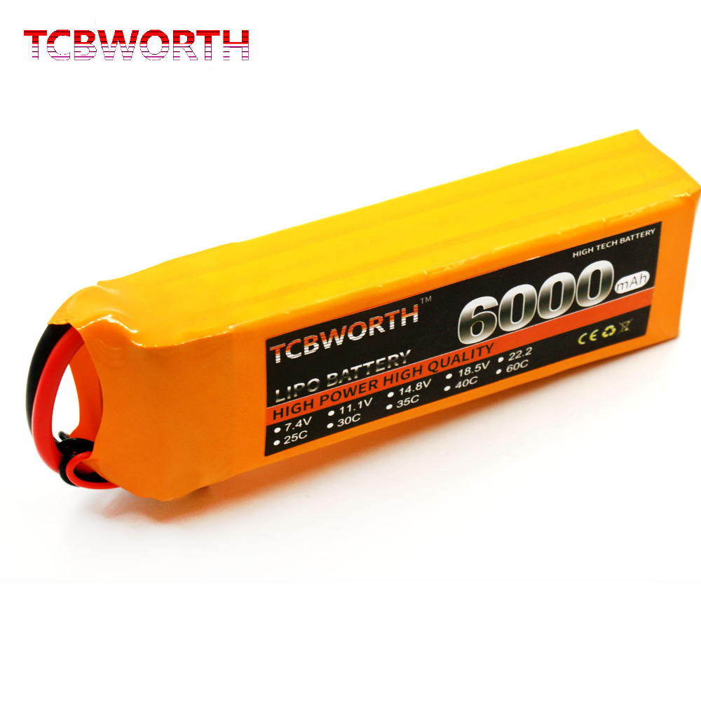 TCBWORTH 4S 14.8V 6000mAh 40C Max 80C 4S RC Quadrotor LiPo battery For RC Airplane Helicopter Car Drone AKKU Li-ion battery стоимость