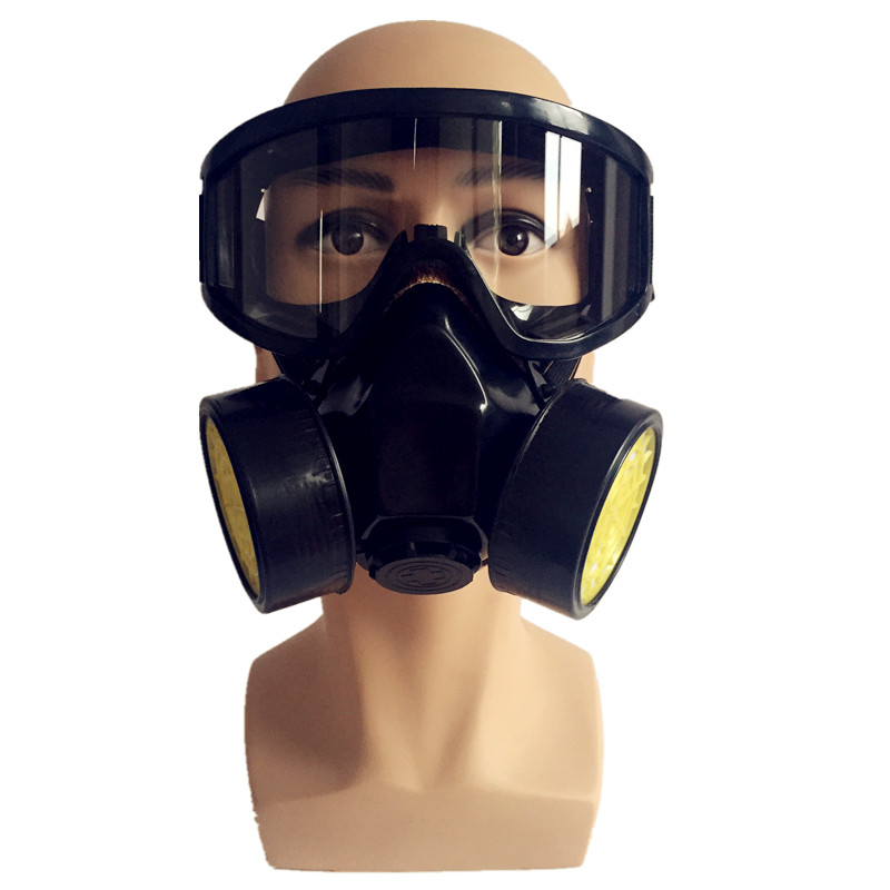 Dual Valve Protective respirator mask Full face Anti-Dust Respirator filter Paint Spraying Industrial Chemical gas mask 300pcs anti fog dust disposable masks medical anti dust surgical face mouth face mask respirator for man women