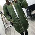 2017 Women Thick Long Bomber Jacket Women Bomber Jacket Women Windproof Military Female Jacket Basic Coats