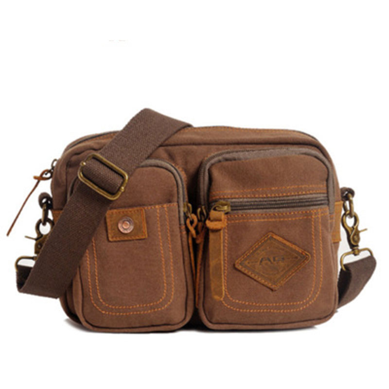 Business Travel Shoulder Bags Multifunction Military Army Vintage Messenger Crossbody Bags