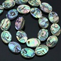 "Charms Peacock blue natural abalone shell oval 13x18mm beauty hot loose beads jewelry 16""B1163"