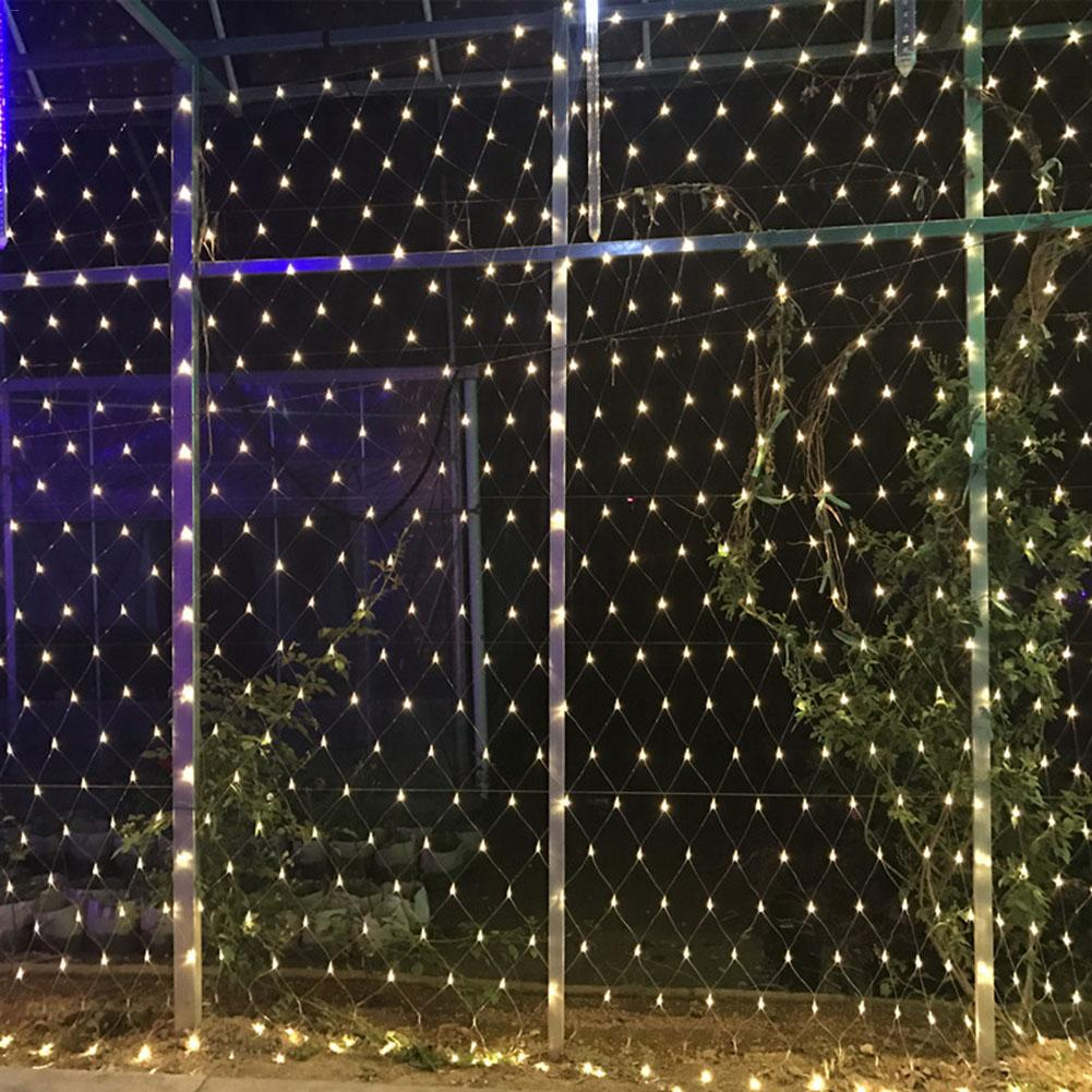 6*4M LED string lights, net lights, fishnet lights Christmas outdoor waterproof, stars New Year wedding led net light 6 4m 672 led string lights net fishnet light outdoor waterproof stars wedding eu pulg christmas holiday garden lamps