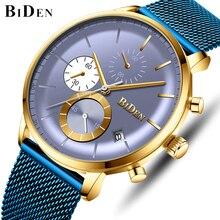 BIDEN Men Watches Top Luxury Brand Men's Army Military Chronograph