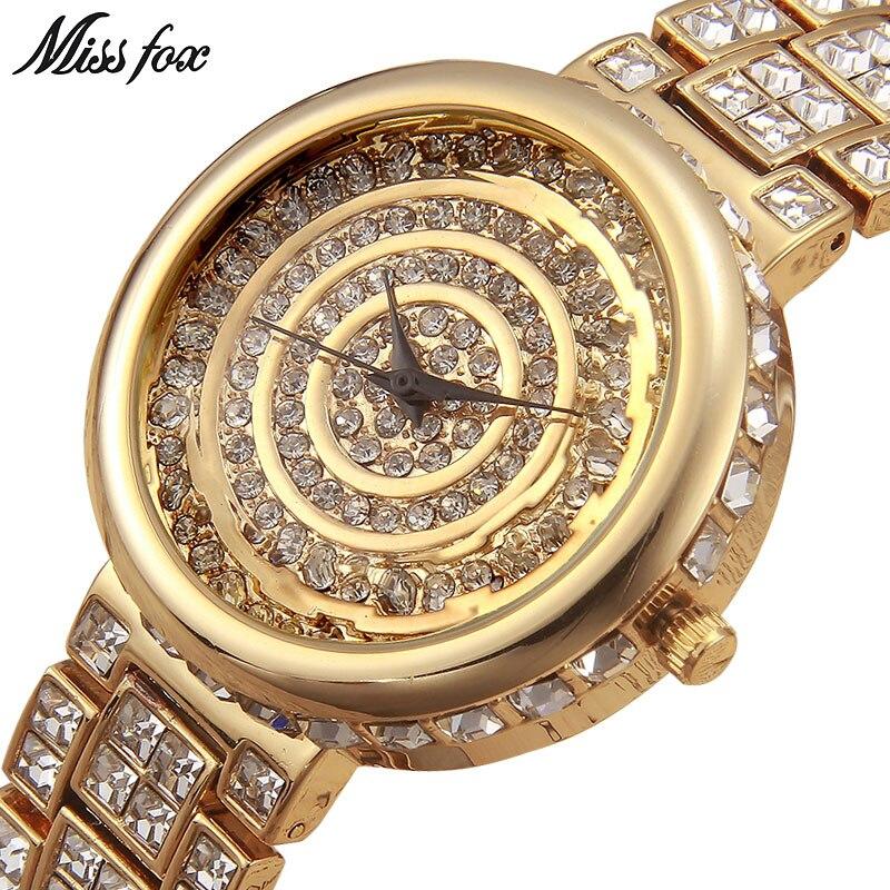 Pulseira de Relógio para Mulheres de Prata Relógios de Pulso para Mulheres 2020 de Ouro de Luxo Missfox Senhorita Marca Casual Mulheres Relógios Orologi Donna Fox
