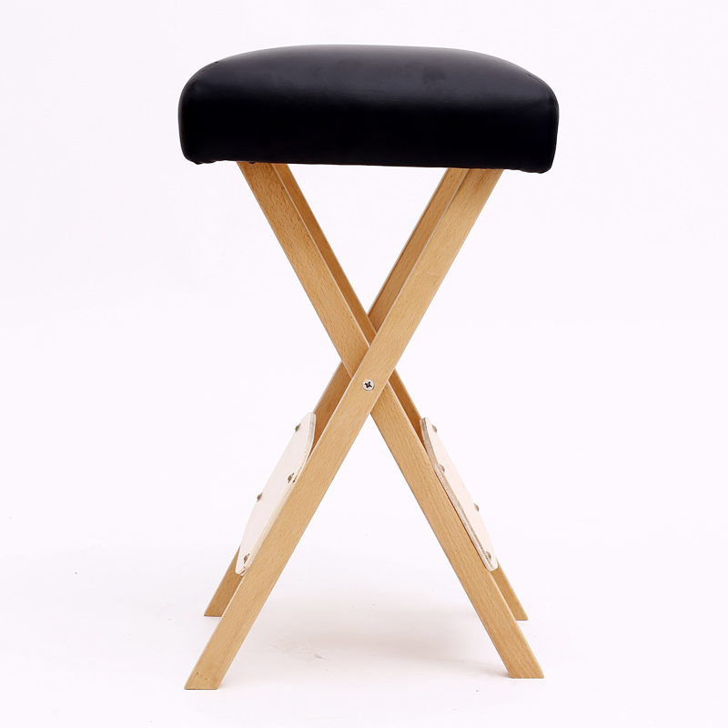 Foldable Salon Stool Chair for Massage Spa Tattoo Beauty Seat Massage Tables Wooden Folding Portable Pedicure Massage Stool modern adjustable swivel salon massage spa seat tattoo medical chair stool leather seat and back massage swivel chair furniture