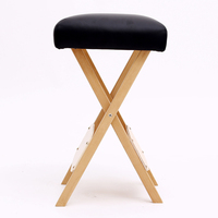 Foldable Salon Stool Chair For Massage Spa Tattoo Beauty Seat Massage Tables Wooden Folding Portable Pedicure