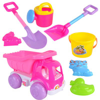 8pcs Set Children Building Castle Beach Sand Play Toys Watering Sand Play Bath Toys For Kids