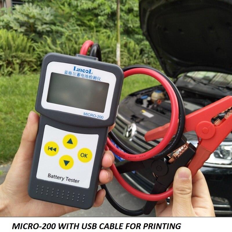 Lancol 12 V Aumotive batterie capacité testeur Véhicule CCA Voiture Testeur de Batterie Analyseur MICRO-200 pour le Plomb-acide