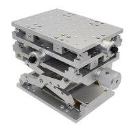 Портативный 3D workbench Лазерная Маркировочная гравировка машина 3 оси движущийся стол 150x150x210 мм оптический эксперимент XYZ оси Таблица Y
