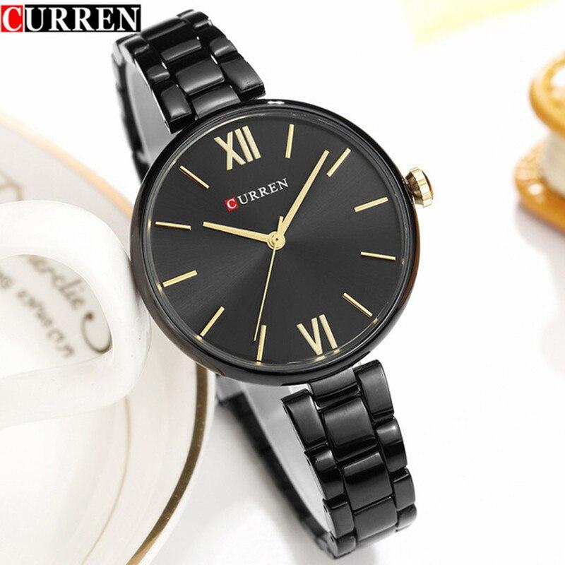 Women's Fashion Black Quartz Watch 2018 Curren Watches Women Brand Luxury Stainless Steel Bracelet Jewelry Wristwatch For Ladies цена