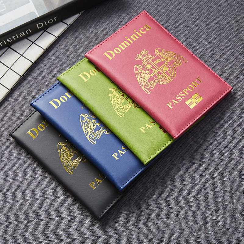 OKOKC PU Leather Dominique Passport Covers Travel Universal Protective Holder Travel Accessories