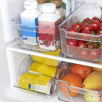 Kitchen Refrigerator Storage Box Food Container Plastic Fresh Spacer Layer Storage Rack Pull out Drawers Fresh Sort Organizer|Storage Boxes & Bins|   -