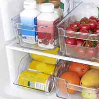 Kitchen Refrigerator Storage Box Food Container Plastic Fresh Spacer Layer Storage Rack Pull-out Drawers Fresh Sort Organizer
