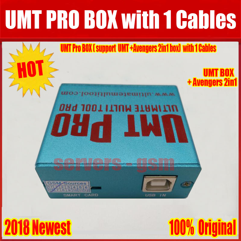 US $85 3  2019 Newest 100% Original UMT Pro BOX support UMT+Avengers 2in1  Box with 1 USB Cables Free Shipping -in Telecom Parts from Cellphones &