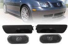 Para VW Jetta Golf MK4 1999-2005 Fumaça 2 Fender + 2 Lâmpada para carros VW amortecedor DIANTEIRO Lado Marcador de Luz do refletor marcador lado luz