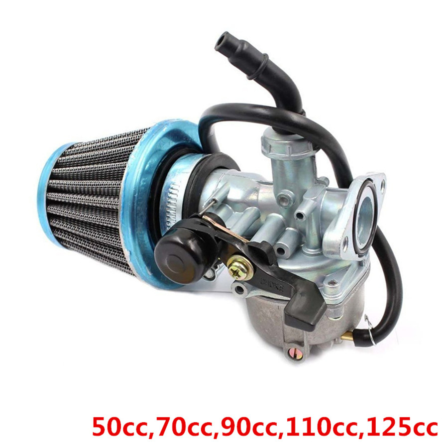 19mm Carburador & Air Filter for 50cc 70cc 90cc 110cc 125cc ATV Dirt Bike Go Kart Carb Carburetor Free Shipping