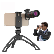 Cell Phone Camera Lens,18X Telescope Zoom Mobile Lens Monocular with Mini Selfie Monopod Tripod for iPhone Xiaomi  Sa