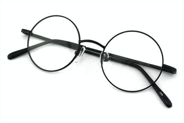 444f86b36 360 خمر الجولة 42 ملليمتر FULL-RIM ربيع المفصلي النظارات الإطار الأسود  نظارات ريترو جديد أعلى جودة rx