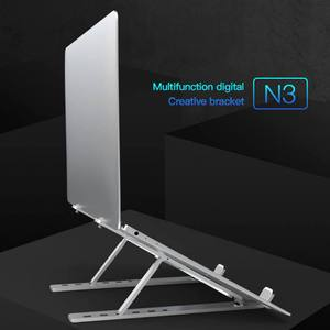 Image 3 - Portable Notebook Stand Laptop Bracket Aluminum Alloy Adjustment Lift Shelf Can be Stored in a Computer Bag