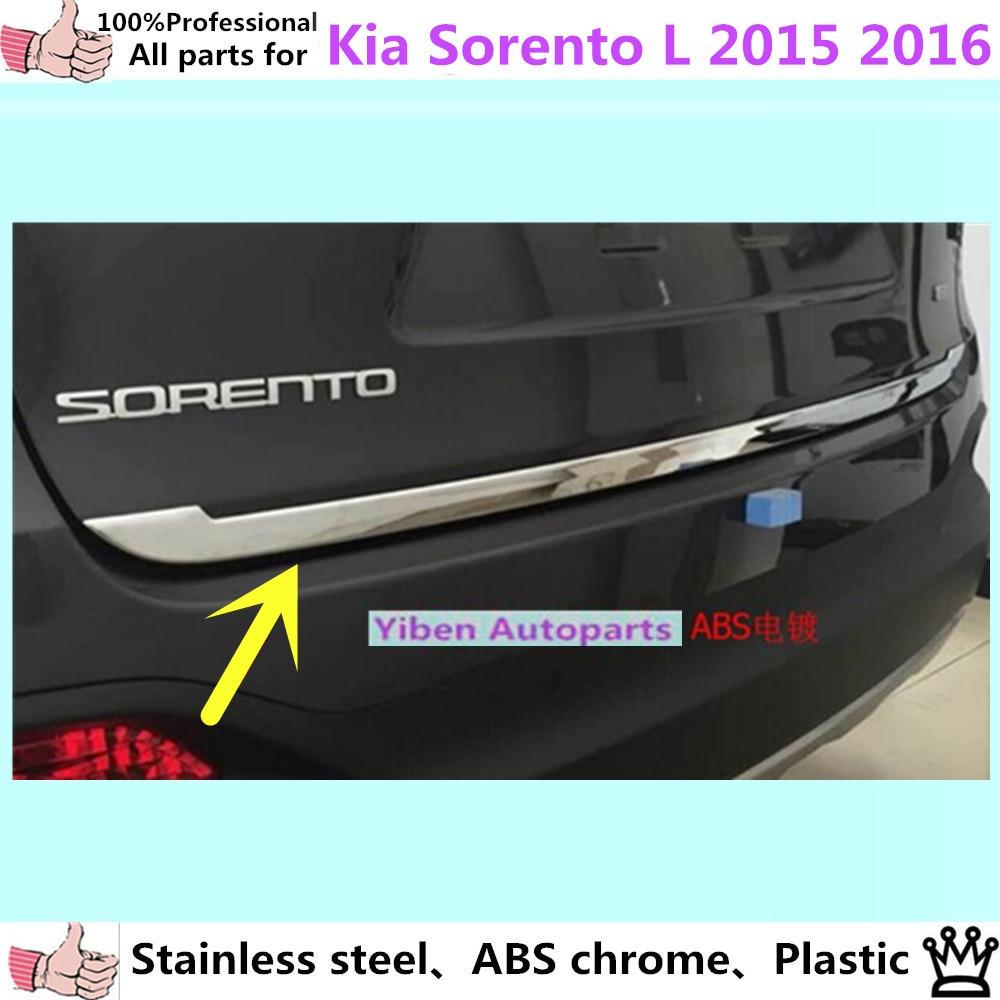Prix pour Pour Kia Sorento L 2015 2016 car Styling ABS chrome intérieur Pare-chocs arrière tronc garniture plaque lampe cadre seuil pédale hottes partie 1 pcs