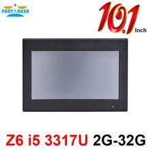 Причастником Z6 10,1 дюймов Сделано в Китае 4 провода резистивный сенсорный экран Intel Core i5 3317U OEM все в одном ПК 2G ram 32G SSD