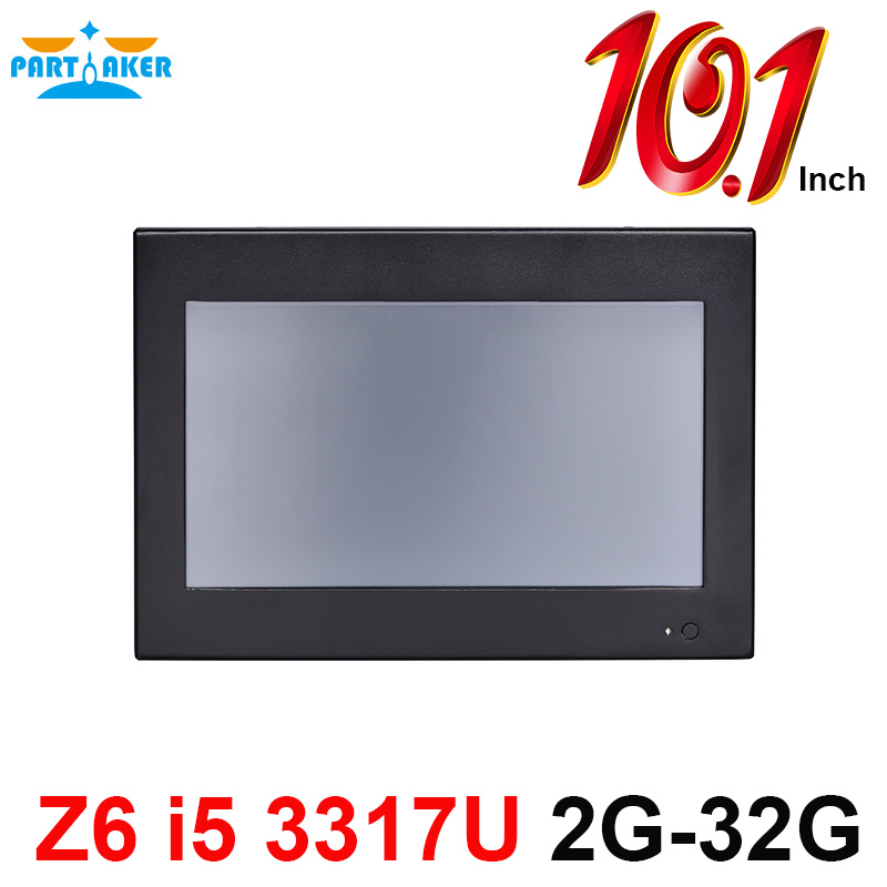 Partaker Elite Z6 10.1 Inch Made-In-China 4 Wire Resistive Touch Screen Intel Core i5 3317U OEM All In One Pc 2G RAM 32G SSD intel celeron 1037u 1 8ghz cpu14 inch all in one pc computer from china 8g ram 500g hdd