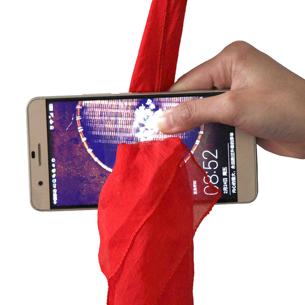 Creative Magic Silk Cheats Through Phone Red Can Use The Audiences Cell Phone Easy For Beginner Funny Magic Toys ...