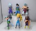Бесплатная доставка Аниме Dragon Ball Z Супер Саян Король Обезьян ПВХ действие рис коллекция игрушки 6 шт./компл.