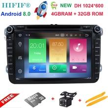 Ips PX5 2Din 8 «Android 8,0 Автомобильный мультимедийный плеер для VW GOLF 5 Golf 6 поло Passat Jetta Tiguan Touran gps навигации для Skoda