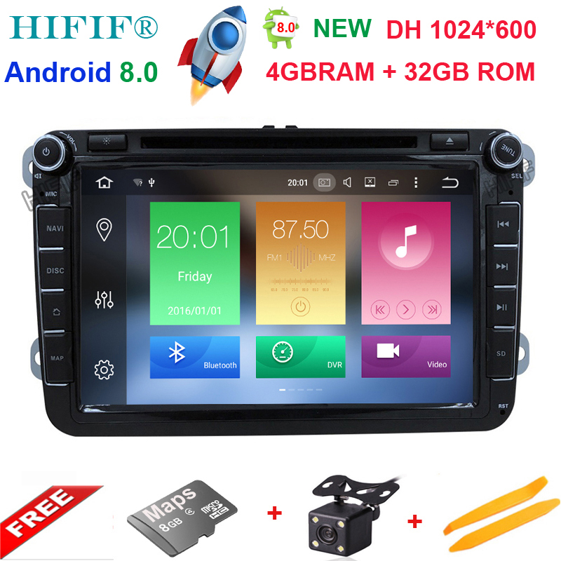 PX5 2Din 8 Android 8.0 Car Multimedia Player for VW GOLF 5 Golf 6 Polo Passat Jetta Tiguan Touran GPS Navigation for Skoda android car radio gps multimedia video audio player for volkswagen vw magotan polo passat golf 7 r gte tiguan touran jetta polo