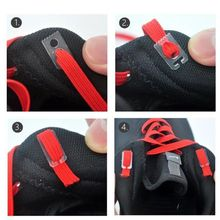 1pair 100cm Stretching Locking No Tie Lazy Shoelaces Flat Sneaker Bootlaces Elastic Rubber Shoe Lace Children Safe Shoelace(China)