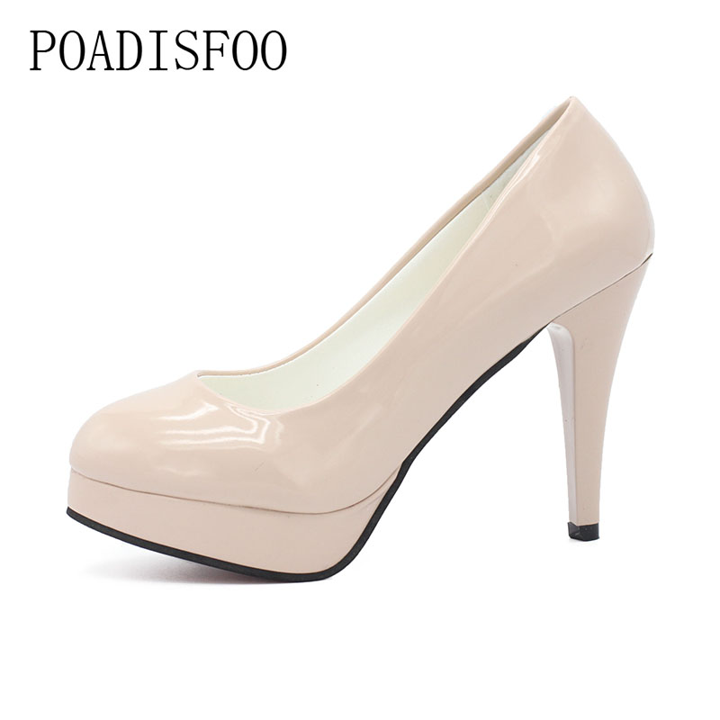 2018 spring and autumn new shallow mouth high-heeled women's shoes fine with pointed high heels waterproof table shoes.DFGD-F-1 14cm sexy fine with nightclub shiny diamond high heels spring and autumn shallow mouth princess wedding shoes