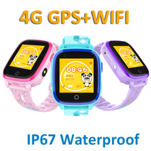 купить 4G Kids Smart Watch GPS LBS Tracker SOS Child WIFI HD Remote Camera smart watch Compatible IOS&Android IP67 Waterproof дешево