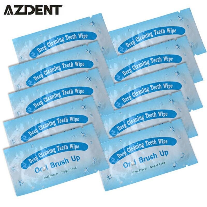 100pcs Finger Teeth Whitening Deep Cleaning Brush Up Wipes Dental Teeth Tooth Oral Hygiene