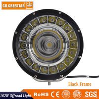 162W GDCREESTAR New Led offroad lights spot flood beam with DRL 60W COB driving work lights High low beam /DRL led worklamp x1pc
