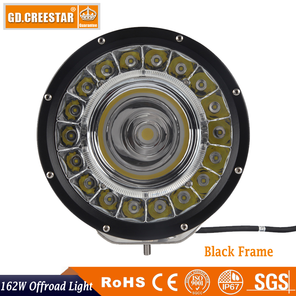 162W GDCREESTAR New Led offroad lights spot flood beam with DRL 60W COB driving work lights High low beam /DRL led worklamp x1pc car led lights 9005 spot car lights source 30w headlights 6000k comet series for drl fog light high beam low beam upgrade