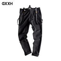 New Men's British Suspenders youth Korean version of the Wild best man Casual pants groom bib Size S M L XL XXL