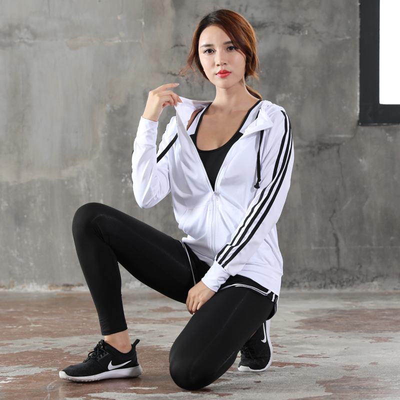 WHORSSIE Women Yoga Fitness Sport Sets Tracksuit Running Jogging Clothes Gym Dance Patchwork Hooded Legging Yoga Workout Clothes 2017 women yoga sets 3 pieces t shirt bra pants fitness workout clothing women gym sports tops running slim leggings sport suit