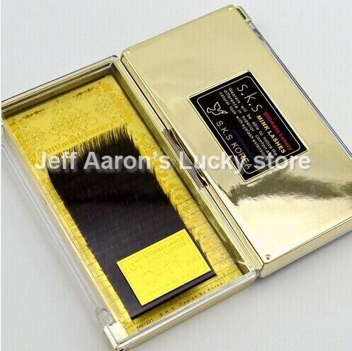 ab0b7b2cfb9 8 Trays High Quality 0.07 C curl mink lashes individual black long false  eyelash extension Thick Fake Eye lash6-14MM