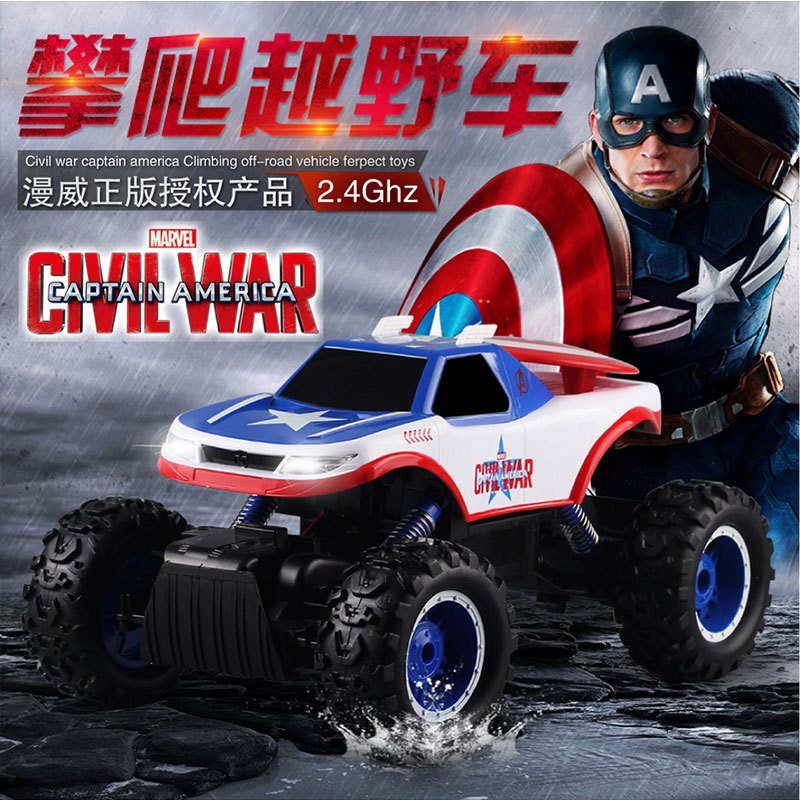 New Captain America large RC Climbing Cars M006 2.4GHZ Double Motor Remote Control Electric Wild Off-road Car Vehicle VS <font><b>10428</b></font> image
