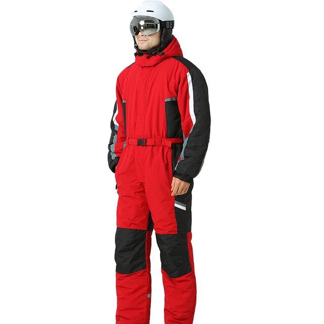 Россия -30 градусов сноуборд куртка для снежной погоды Водонепроницаемый лыжный костюм Для мужчин Одна деталь Профессиональный Лыжный Спорт комбинезон зимний Костюмы комбинезон